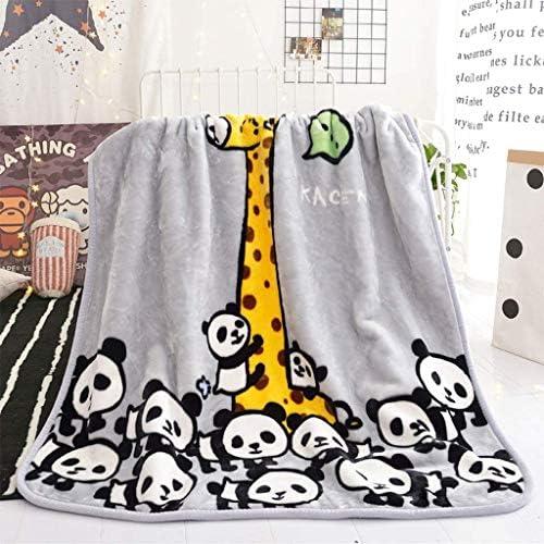 Couverture Enfants jettent Doux épais Chaud bébé de Bande dessinée Panda Giraffe Fluffy 110 * 140cm (Couleur: Gris)