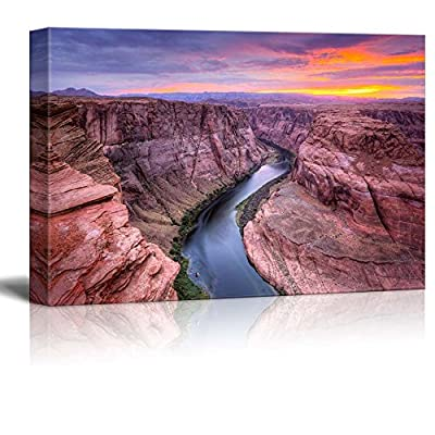 That You Will Love, Alluring Piece of Art, Beautiful Scenery Landscape Colorado River at Horseshoe Bend Page Az Wall Decor