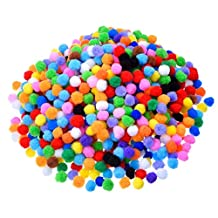1000 Pcs 1cm Pompoms for Craft Making and Hobby Supplies Children's DIY Craft Kit Assorted Colors