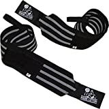 Nordic Lifting Wrist Wraps Super Heavy Duty (1 Pair/2 Wraps) 24'...