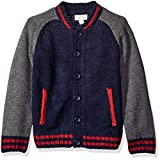 Pumpkin Patch Little Boys' Baseball Cardigan, Insignia Blue, 7