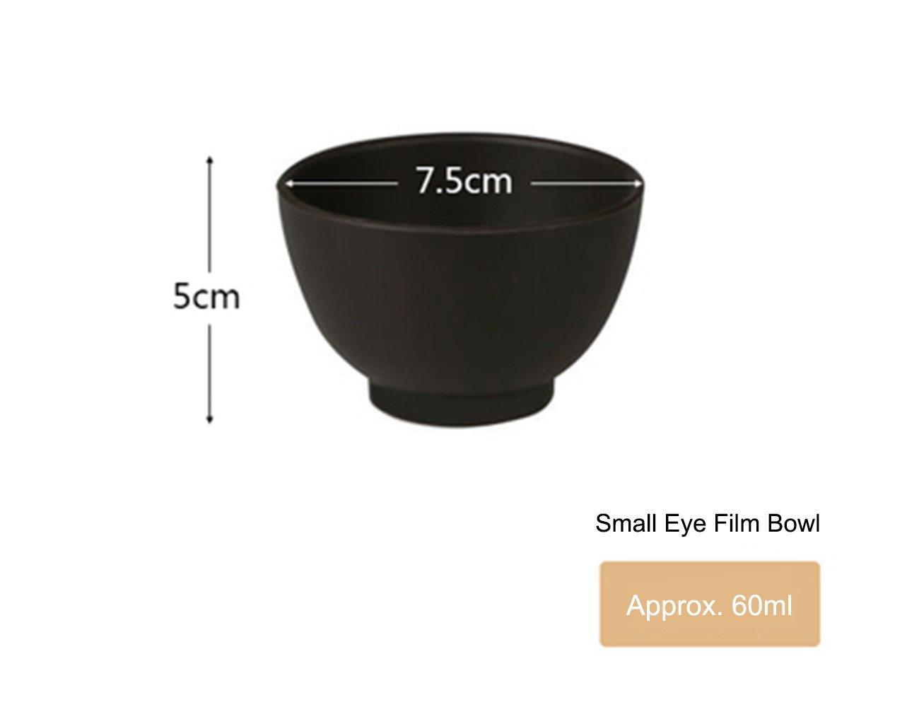 Elitzia ETBWP001B Mask Tools Silicone Adjust Film Mask Bowl Beauty Salon Powder Necessary Supplies Brown Color 4 Size Options (7.5×5)