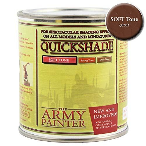 (Miniature Painting Varnish for Shading Mini Models, Soft Tone - Quickshade Miniature Varnish by The Army Painter (250 ml))