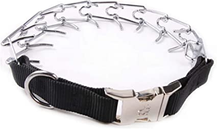 Pettom Dog Prong Training Collar Adjustable Choke Chain Pinch Pet 22 Inches with