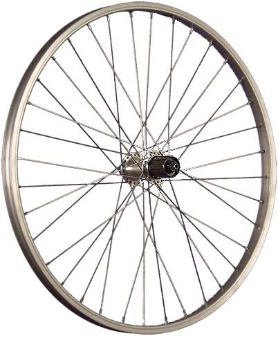 Taylor-Wheels 24 Pulgadas Rueda Trasera Bici de Aluminio para Cassette Plateado: Amazon.es: Deportes y aire libre