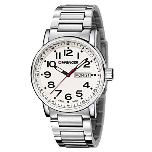Wenger-010341102-Mens-Attitude-Day-Date-Stainless-Steel-Case-and-Bracelet-White-Dial-Silver-Watch