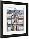 Ashley Framed Prints The Plaza Mayor Square In Madrid Spain, Wall Art Home Decoration, Color, 30x26 (frame size), Black Frame, AG5478904