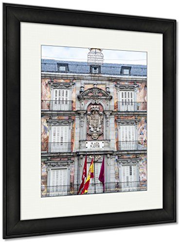 Ashley Framed Prints The Plaza Mayor Square In Madrid Spain, Wall Art Home Decoration, Color, 30x26 (frame size), Black Frame, AG5478904 by Ashley Framed Prints