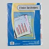 Index Tab Dividers Transparent Colors 3 Hole Punch 72 pcs sku# 1892996MA