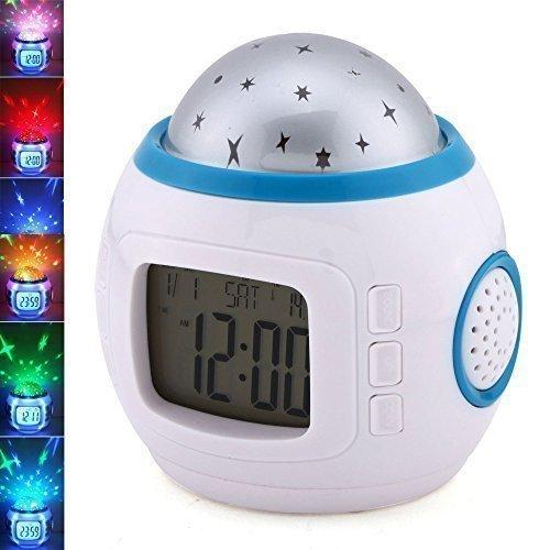 Children Room Sky Star Night Light Projector Alarm Clock