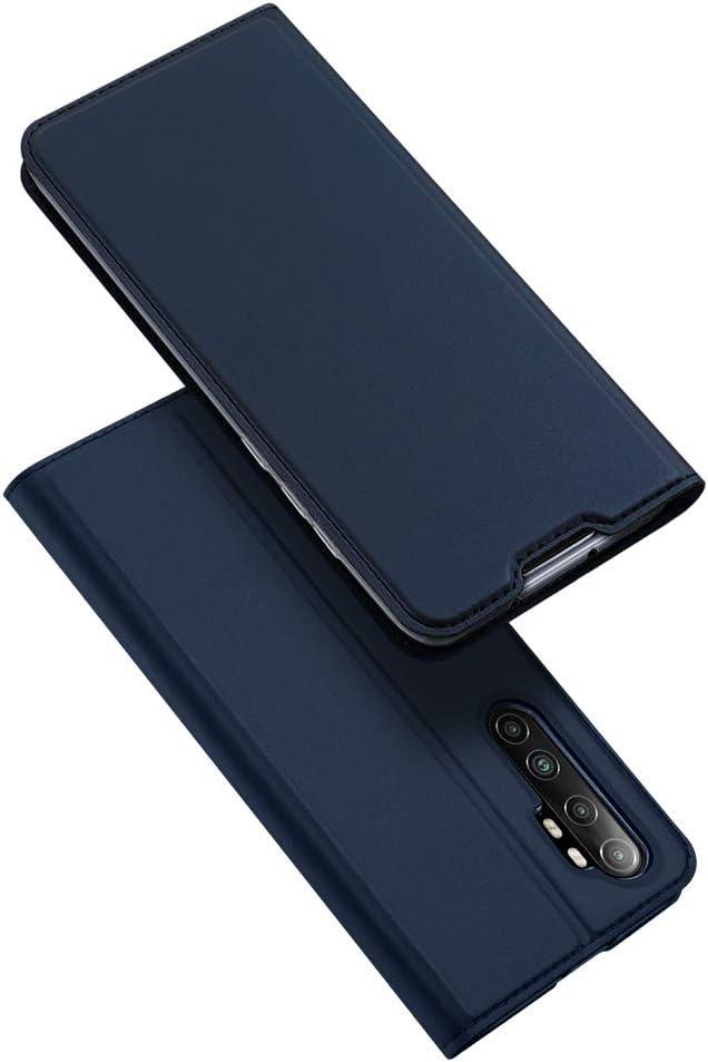 /Étui Portefeuille Gaufr/é LAGUI Compatible pour Coque Xiaomi Mi Note 10 // Note 10 Pro Gris 3 Porte-Cartes, Support Horizontal, Fermoir Magn/étique