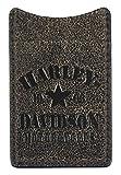 Harley-Davidson Mens Burnished Military Boot Clip Leather Wallet BM6173L-TANBLK