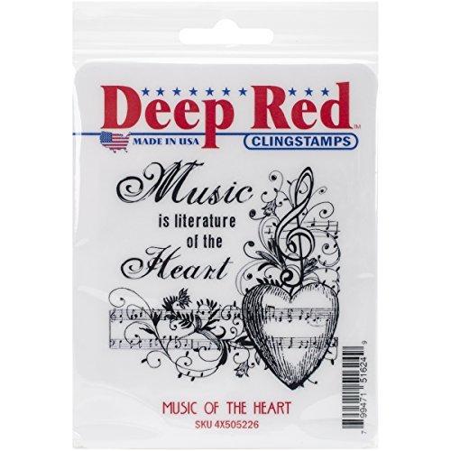 Deep rot rot rot Stamps Cling Music of The Heart Stamp, 3 x 3 by Deep rot Stamps B01KB6URP0   Qualität Produkt    Bekannt für seine gute Qualität    Spielzeug mit kindlichen Herzen herstellen  70fbb0