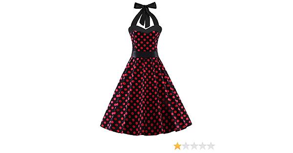 Waist Bow Evening Dress Afternoon Tea Elegant Short Skirt Molyveva Lovely Dress Ladies Halter V-neck Polka Dot Print Sleeveless Dress
