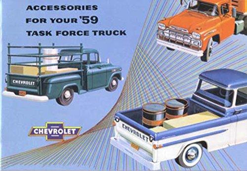 - 1959 Chevrolet Truck Accessories Sales Brochure Literature Book Specification