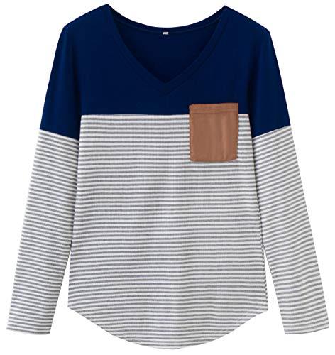 8a2c72b54917b7 Finoceans Women s Floral Tunic Pullover Striped Sweatshirts Long Sleeve  Tops Shirts