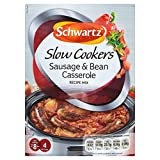 Schwartz Slow Cookers Sausage & Bean Casserole Recipe Mix (35g) - Pack of 6