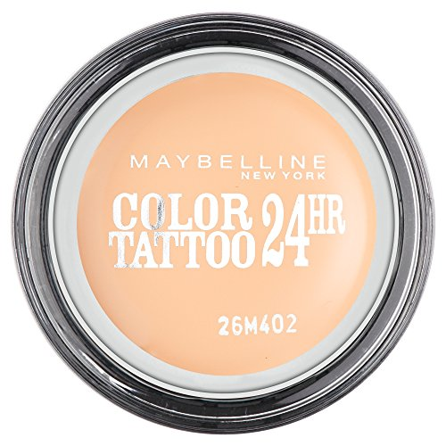 Maybelline New York Lidschatten Eyestudio Color Tattoo 24h Creme de nude 93 / Gel-Cream Eyeshadow Nudefarbend matt, langanhaltend, 1 x 4 g