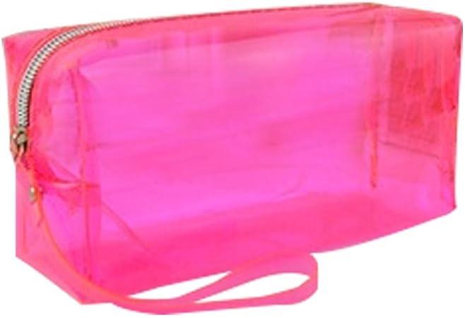 juman634 Bolsa Multifuncional innovadora Bolsa para Maquillaje Transparente de Gran Capacidad Color Caramelo Estuche para lápices Caja para papelería para Estudiantes Bolsa para papelería: Amazon.es: Hogar