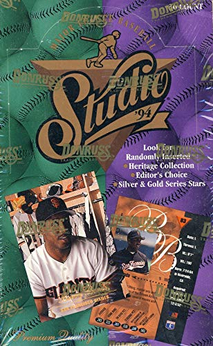 1994 Donruss Studio Baseball Hobby Box (1994 Donruss Studio)
