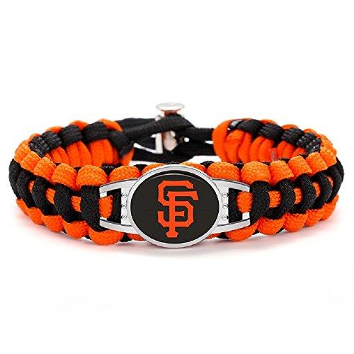 (Swamp Fox Premium Style San Francisco Giants Baseball Team Adjustable Paracord Survival Bracelet)
