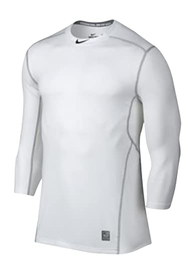 986a61d4 Nike Men's Pro Hypercool 1.5 Baseball Fitted Shirt (X-Large, White (100