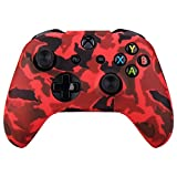 xbox 1 control covers - MXRC Silicone rubber cover skin case anti-slip Water Transfer Customize Camouflage for Xbox One/S/X controller x 1(red)