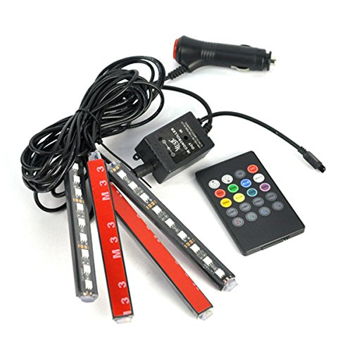 Car Lights Interior,Neon Lights Strip for car,Car Interior Lighting Kit,Multi Mode Change and Wireless Remote Control (Multicolor)