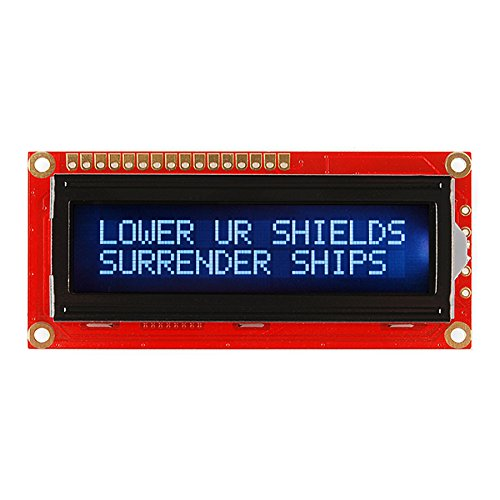 Basic 16X2 Character Lcd - White On Black 3.3V by CusCus