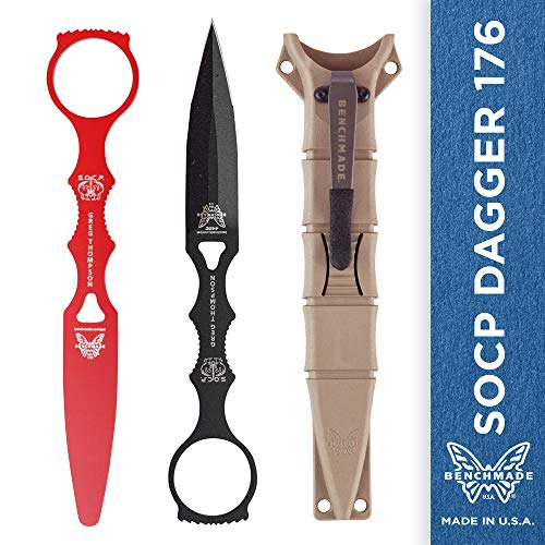 ger 176 Combo with Sand Sheath, Skelentonized Dagger, Plain Edge, Coated Finish, Black Handle ()