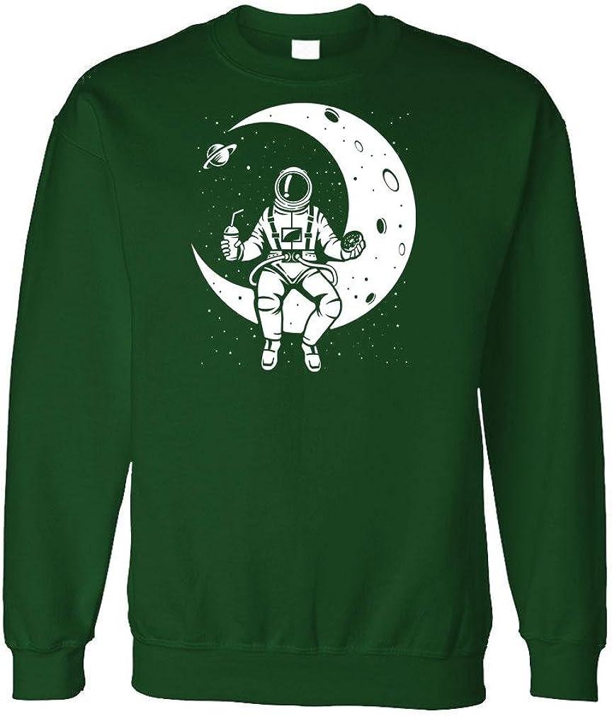 Fleece Sweatshirt Launch Break Astronaut NASA Moon Space Forest L