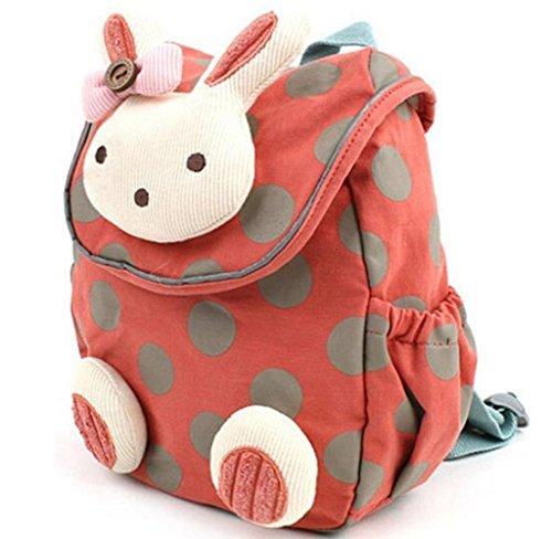 Rcool Baby Anti-streunende Kleinkind kleine Tasche Baby nicht verloren Backpac (Wassermelone-Rot)