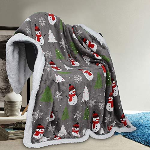 Vera Neumann Ulta Plush Soft and Warm Sherpa Throw Blanket,