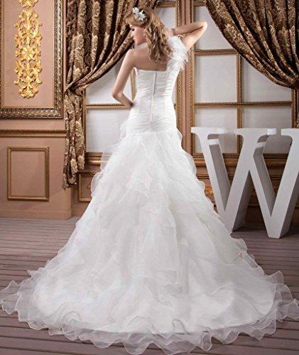 Design Organza GEORGE Neu Schulter Weiß Elegant Brautkleid BRIDE 1 qwYxvXAY