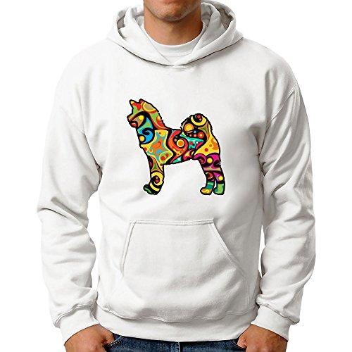 Eddany Psychedelic American Akita Hoodie (Akita Hooded Sweatshirt)