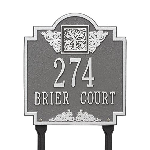 (Monogram Standard Address Sign Finish: Pewter and)