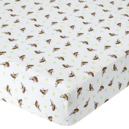 Babies R Us Percale Crib Sheet - Monkey by Babies R Us