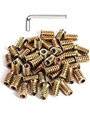 """41pcs 1/4-20 Threaded Inserts for Wood Nuts 4/5"""" Length"""