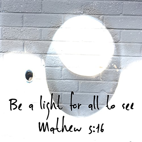 BIBLE QUOTES BELFAST Christian Quote STICKER Bible Verse BE A LIGHT FOR ALL TO SEE Mathew 5:16 God Jesus Christ WALL ART PRESENT GIFT