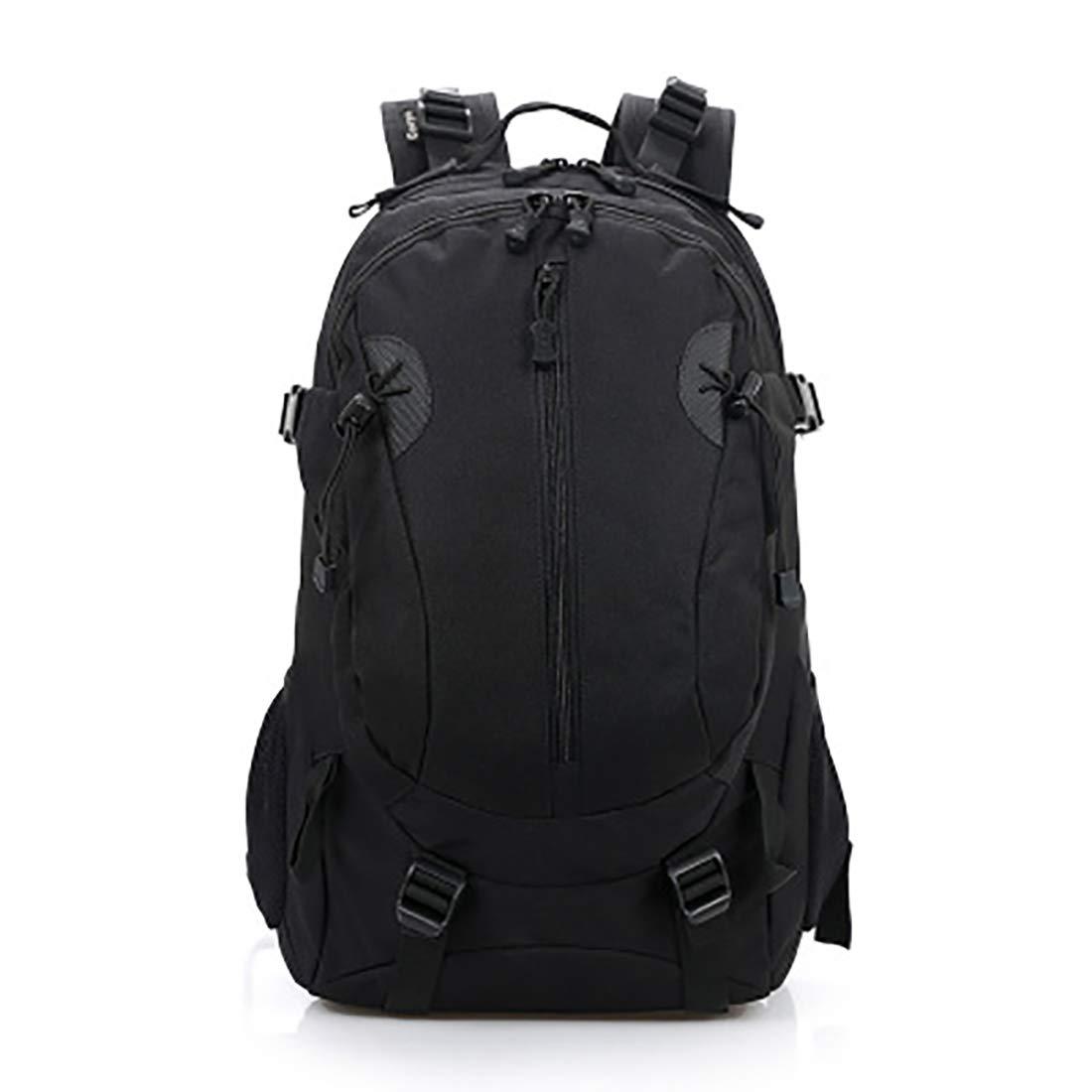 CAFUTY アウトドアスポーツキャンプハイキングランニング登山バッグ用カモフラージュショルダーバックパック (Color : ブラック)  ブラック B07N6GLNWK