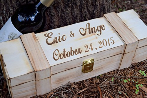 Personalized Wine Box - Laser Engraved Wine Box - Wedding Wine Box - Wine Box Gift - Ceremony Wine Box