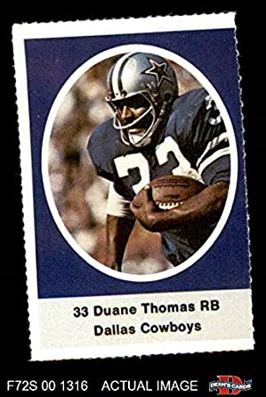 daaca9dfc34 Image Unavailable. Image not available for. Color: 1972 Sunoco Stamps Duane  Thomas Dallas Cowboys ...