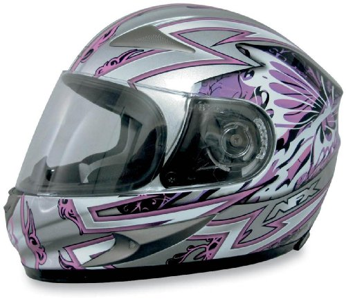 AFX FX-90 Passion Helmet , Size: Lg, Primary Color: Pink, Distinct Name: Pink/Silver Passion, Helmet Type: Full-face Helmets, Helmet Category: Street, Gender: Womens 0101-5840