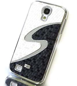 Exklusive-Cad SAM-S4-REPTIL-beigeblack-S-silber - Carcasa de piel para Samsung Galaxy S IV i9500 (aspecto de piel de cocodrilo), color crema y negro