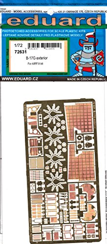 72 B-17g Flying Fortress - EDU72631 1:72 Eduard PE - B-17G Flying Fortress Exterior Detail Set (for use with the Airfix model kit) [MODEL KIT ACCESSORY]