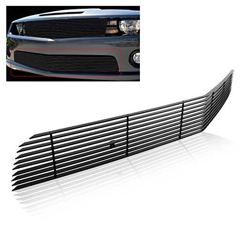 (ZMAUTOPARTS Chevy Camaro SS V8 Front Bumper Lower Billet Grille Grill Phantom Black)