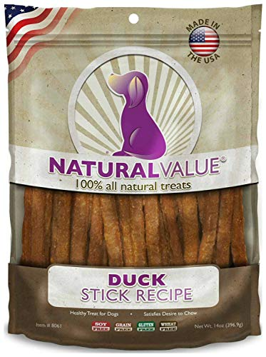 Loving Pets Natural Value Soft Chew Duck Sticks Dog Chews, 14 Ounce, 6 Pack