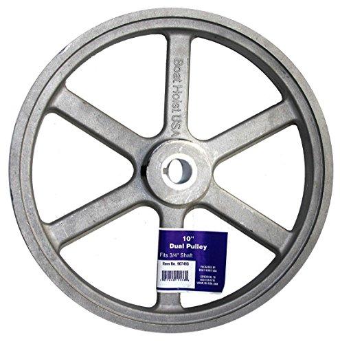 BH-USA 10″ Aluminum Die-Cast Dual Belt Hoist ()