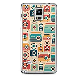 Retro Samsung Note 4 Transparent Edge Case - Jukebox