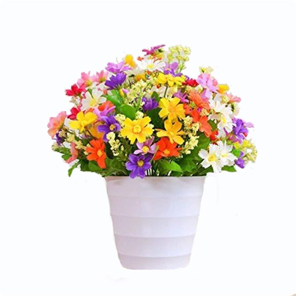 MEILI FLOWERSeide Blumenstengel Paisley Strahl Kunststoff Blumen Dekoration Set-Emulation Setup im Wohnzimmer Home Blumen Kleine Topfpflanzen 2pcs